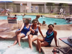 Bathing beauties: Deborah, Sherry and Stephanie